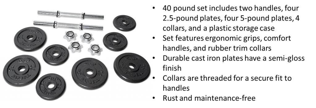 Cap Dumbbell Set Features and Best Price