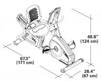 Nautilus R618 Dimensions